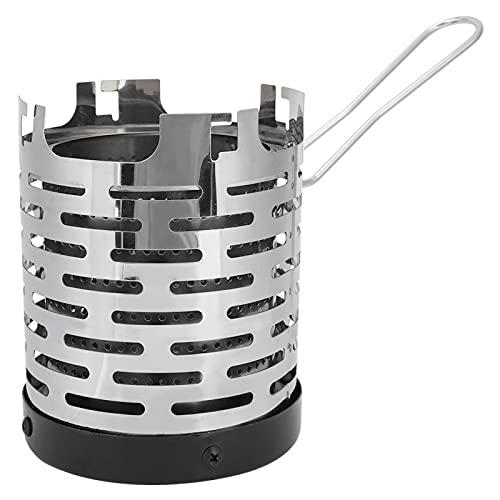 Cubierta calefactora para estufa, cubierta calefactora para mini estufa Escudo calefactor exterior portátil de acero inoxidable, para un almacenamiento conveniente de la estufa para viajes y transport
