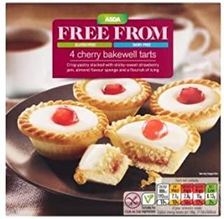 Asda Dairy and Gluten Free Cherry Bakewell Tarts