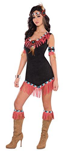 Amscan International Indianer-Prinzessin Rising Sun, Kostüm für Erwachsene, Größe 38 - 40