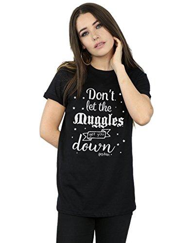 Harry Potter Femme Don't Let The Muggles Petit Ami Fit T-Shirt Noir Large