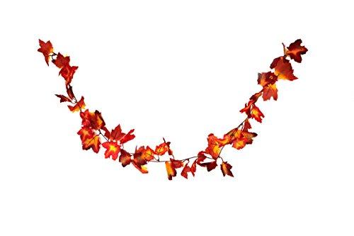 HEITMANN DECO Herbst-Girlande mit Ahorn-Blättern in rot/orange - Deko-Girlande mit Herbst-Laub - Kunststoff-Blätter