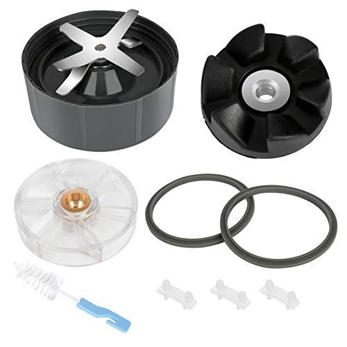 Parti di ricambio per frullatore BestFire 9 pezzi Accessorio per frullatore e spremiagrumi Premium adatto per Nutribullet Pro 900W e 600W con lama estrattore in acciaio inossidabile a 6 alette