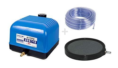 Hailea Aquaforte V20 Belüfter-Set Luftpumpe inkl. 10m Schlauch und Luftplatte 13cm
