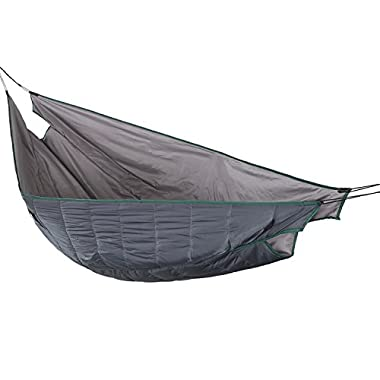 OneTigris Hammock Underquilt, Lightweight Camping Quilt, Packable Full Length Under Blanket (Shadow Grey - Double Version)