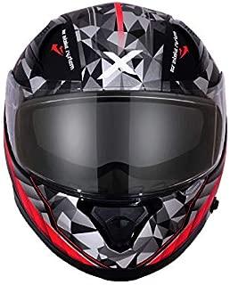 Axor Apex Crypto D/V Full Face Helmet (Dull Black and Red, XL)