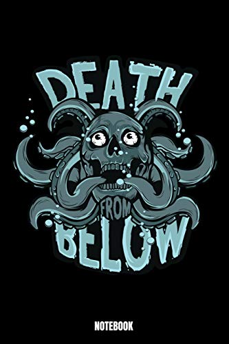 Death Below Notebook: Octopus Notizbuch: Notizbuch A5 karierte 110 Seiten, Notizheft / Tagebuch / Reise Journal, perfektes Geschenk für Sie Ihre ... Perfekt für Liebhaber des Oktopus-Themas.