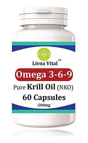 Krill Oil Capsules 500mg 60 Softgels with Antioxidant - Sustainably Fished 1000mg per Serving EPA DHA - Fast and Efficient Absorption with Astaxanthin - for Healthy Heart, Brain and Vision