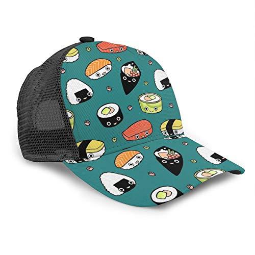 Men and Women Japan Sushi Kawaii Trucker Hat Casual Baseball Cap Breathable Baseball Fitted Cap for beach, pool, gardening, travel