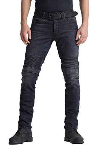 Pando Moto Karl Devil 9 Men's Motorcycle Jeans with Cordura and Kevlar Lining CE Approved Slim Fit Motorbike Trousers