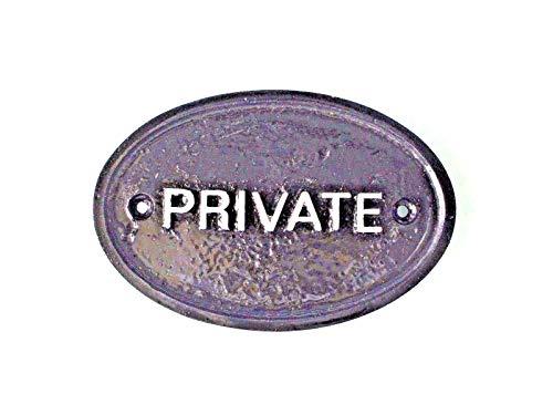 Plaque « Private » pour mur de maison ou de jardin - Noir - Pour garder éloignées les personnes indésirables