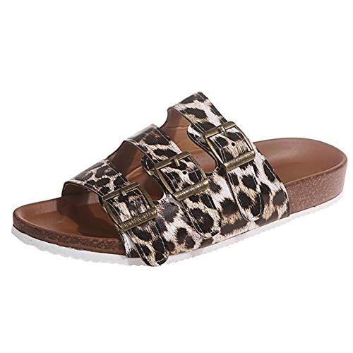 FWKTG Mujer Pantuflas Sandalias Zapatilla Casa Zapato Antideslizante Mujer Slippers Interiores y Exteriores...