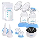 Electric Double Breast Pump Eccomum Breastfeeding Pump with 4 Modes &...