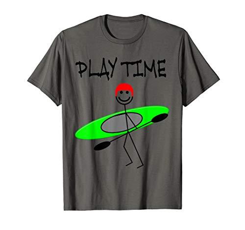 Kanu, Kajak, Kanadier und Paddeln, Stick Man Shirt. T-Shirt