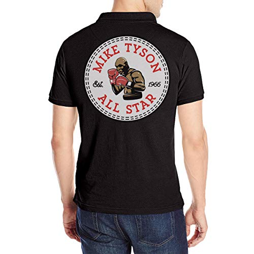 Herren Mike-Tyson All Star Logo Polo T Shirt Tee Shirts Sommer Kurzarm Black XL Tshirt Für Men Baumwolle Crew Neck T-Shirt