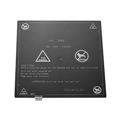Aibecy 3D Printer Hot Bed 1pcs, 12V Riscaldamento Piattaforma Heatbed Alluminio 300 * 300 * 3mm con Hot-bed Wire Cord per Anet E12 3D stampante Aggiornamento Fornitori