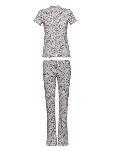Vive Maria Cherry Blossom Damen Pyjama Grau Allover, Größe:M