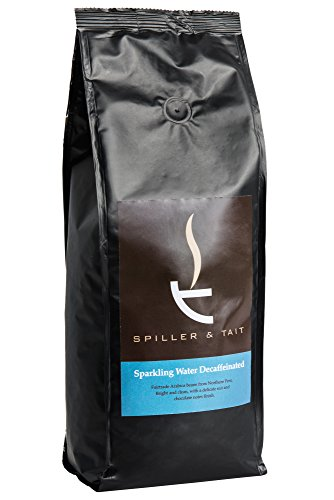 Spiller & Tait Sparkling Water Decaffeinated Coffee Beans 1kg Bag ? Fairtrade and Fresh Roasted ? Suitable for All Coffee Machines
