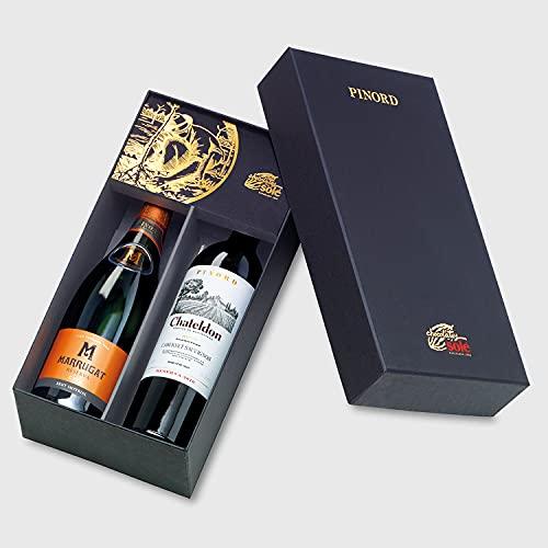 Smartbox - Caja Regalo - Bodegas Pinord a Domicilio: Botella de Cava, Botella de Tinto y Chocolates - Ideas Regalos Originales