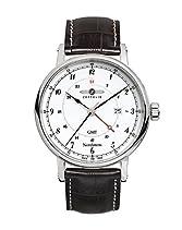 Zeppelin Herren-Armbanduhr Nordstern Analog Quarz Leder 75461