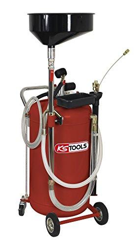 KS Tools 160.0003 Récupérateur d'huile par gravité et aspiration-90 l + 160.0004, Blanc
