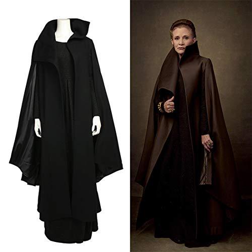 Rubyonly Star Wars 8 Cosplay Prinzessin Leia Cosplay Frauen Deluxe Outfit Schwarz Full Set-Kostüme für Frauen,XXL