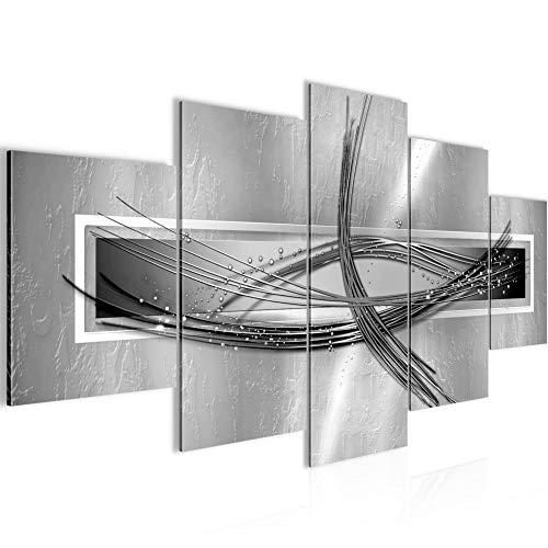 Cuadro en LienzoAbstracto 200 x 100 cm - XXL Impresión Material Tejido no Tejido Artística Imagen Gráfica Decoracion de Pared -5 piezas - Listo para colgar -103651c