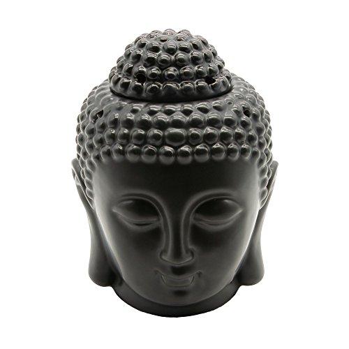 Omonic Porcelain Zen Garden Yoga Meditation White Thai Buddha Head Statue Essential Oil Burner Aromatherapy Diffuser Home Decor (White)
