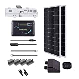 Renogy 200 Watts 12 Volts Monocrystallin Panel Solar RV Kit, 200W, Black