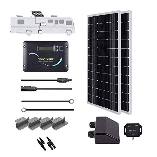 Renogy 200 Watts 12 Volts Monocrystallin Panel Solar RV Kit, 200W