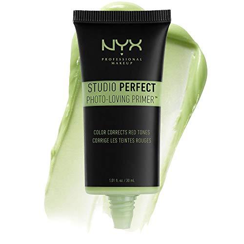 NYX Professional Makeup Studio Perfect Primer Base, Incarnato Uniforme, Minimizza l'Aspetto delle Rughe Sottili e dei Pori Dilatati, Green