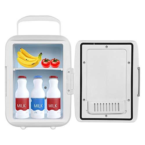 Emoshayoga Mini refrigerador refrigerador portátil Mini refrigerador Compacto Oficina de Coche Multifuncional para el hogar(White)