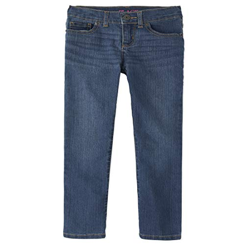 The Children's Place Girl's Basic Skinny Jeans, Md Lara Wash, 6X/7