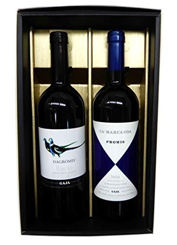 イタリア高級ワイン2本セット ガヤ ダグロミス バローロ 赤、カマルカンダ プロミス 赤【6月〜10月 クール便】