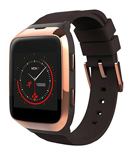 MyKronoz KRZESPLASH2-BROW-PINKGO - Smart Watch IP66, con funzioni di Chiamata, SMS, contapassi, misurazione del Sonno e frequenza cardiaca, per iOS/Android, Oro/Marrone/Rosa