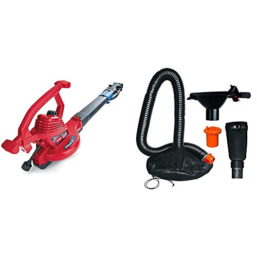 Toro 51621 UltraPlus Leaf Blower Vacuum, Variable-Speed (up to 250 mph), 12 amp,Red & Worx WA4058 LeafPro Universal Leaf Collection System for All Major Blower/Vac Brands,Black/Orange