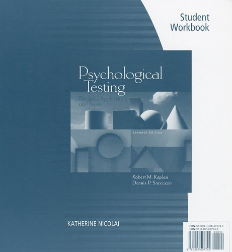 Student Workbook for Kaplan/Saccuzzo's Psychological...