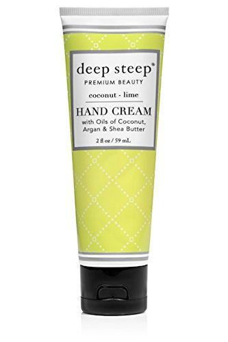 Deep Steep Crème pour les mains, 56,7 gram, noix de coco Citron vert