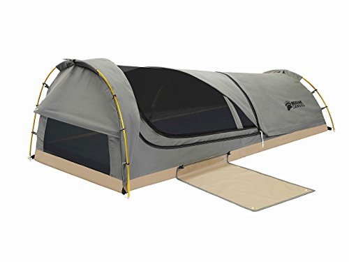 Kodiak Canvas 1-Person Canvas Swag Tent with Sleeping Pad,...