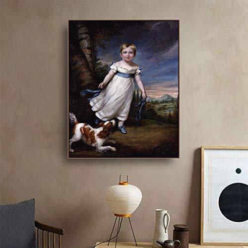 Frameloze schilderij Renaissance kunst canvas schilderij kalligrafie posters en gedrukte decoratieve foto's ZGQ2907 30X40cm