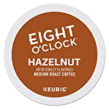 Eight O'Clock Coffee Hazelnut, Single-Serve Keurig K-Cup Pods, Flavored Medium Roast Coffee, 96 Count