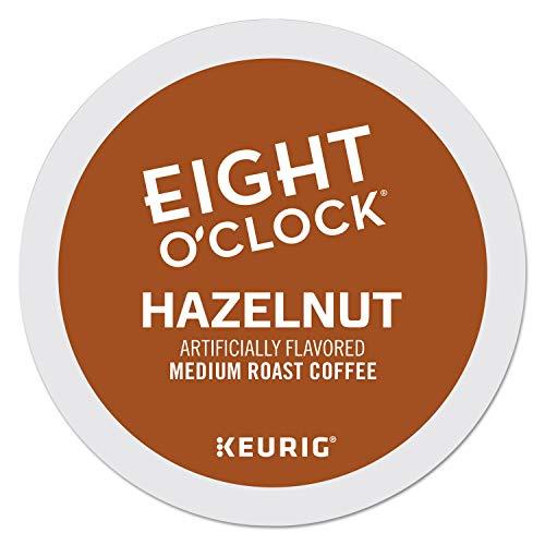 Eight O'Clock Coffee Hazelnut, Single-Serve Keurig K-Cup Pods, Flavored Medium Roast Coffee, 96 Count