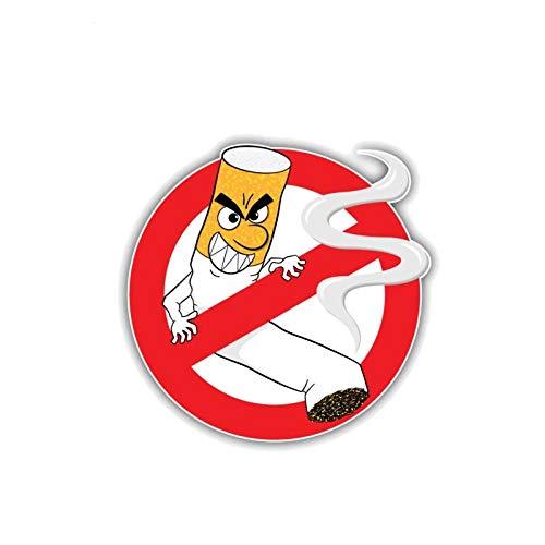 JKGHK Pegatinas para coche, 2 unidades, divertidas, no fumar, calcomanía de PVC, 11 x 10,7 cm