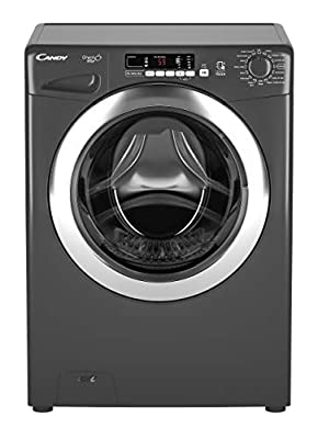 Candy GVS1410DC3R Freestanding Washing Machine, NFC Connected, 10Kg Load, 1400rpm spin, Graphite