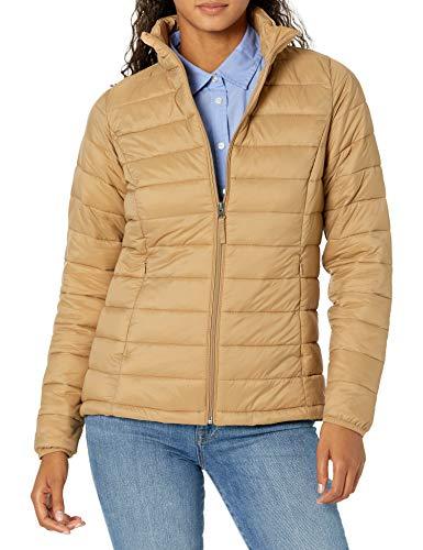 Amazon Essentials Lightweight Water-Resistant Packable Puffer Jacket Chaqueta aislada, Camel, L