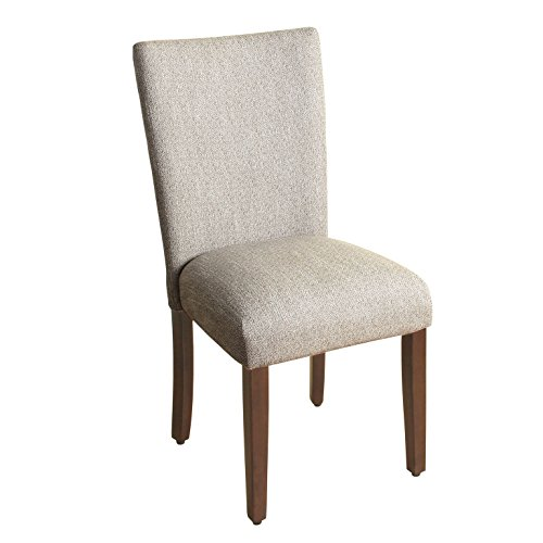 HomePop Parsons Classic Upholstered Accent Dining Chair, Single Pack, Light Grey