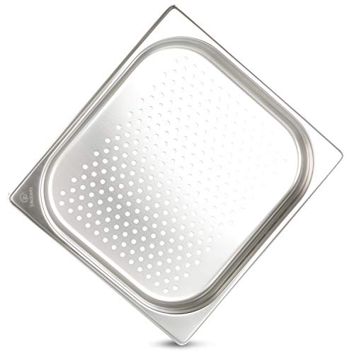 jokobela GN-Behälter :: gelocht :: geeginet für Gaggenau, Miele und Siemens Dampfgarer (Edelstahl, Spülmaschinen geeignet, Gastronorm 2/3, B 32,5 x L 35,4 x H 4,0 cm)