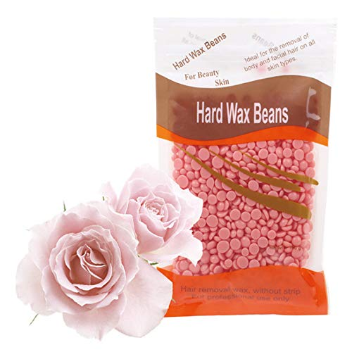 Hard Wax Beans Beauty Salon Hair Remover Dedicated Pearl Shape Granules Hot Film Wax Beads for Legs, Underarms, Chest and Back Depilatory Set (Rose rose, 1pc)