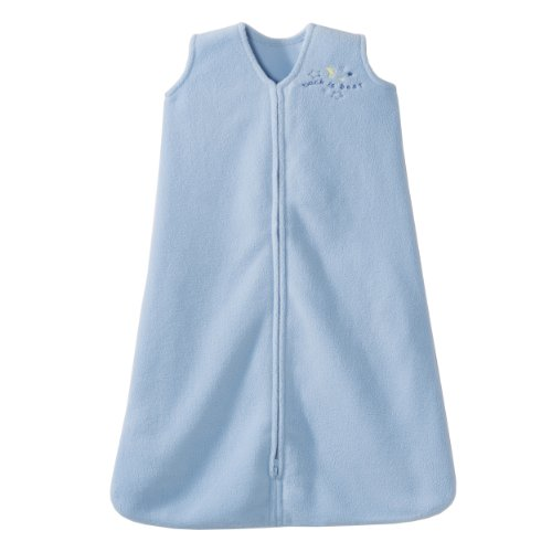 HALO Sleepsack Micro-Fleece Wearable Blanket, Baby Blue, Medium
