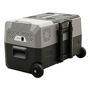 Portable AC/DC Refrigerator Cooler Freezer Frozen E-Kooler w/Compressor   Trolley Wheels for Travel Camping Fishing (30L)