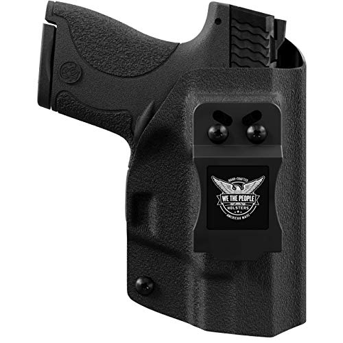 We The People - Black Left Hand Inside Waistband Concealed Carry Kydex IWB Holster Compatible with Glock 19 23 32 45 19X Gen 3-4-5 Gun